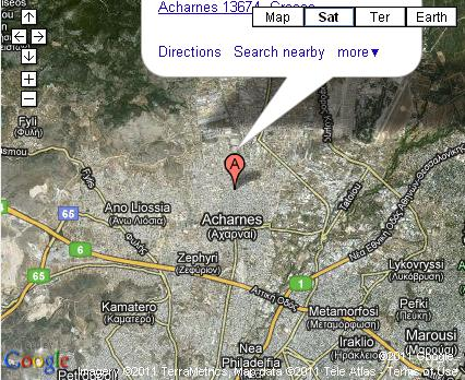 Chalkidiki Flour Mills Map Location Athens Branch